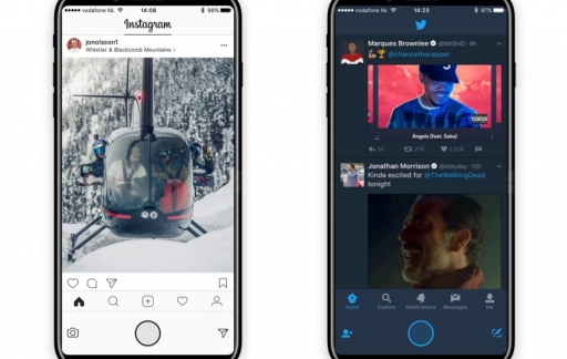iPhone 8 concept met functiepaneel in apps.