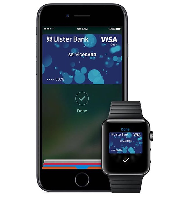 Apple Pay: Ulster Bank in Ierland