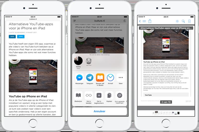 PDF converteren op iPhone