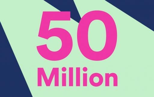 Spotify 50 miljoen betalende gebruikers