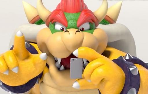 Bowser met Ouderlijk toezicht-app voor Nintendo Switch.