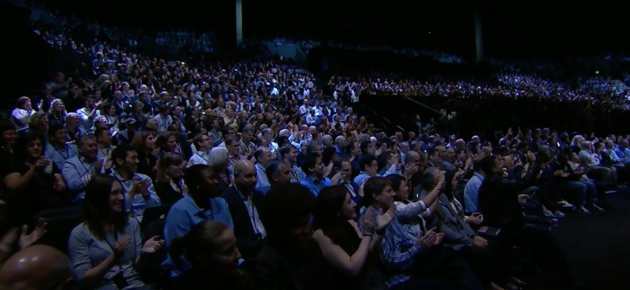 Publiek in een Apple-event.