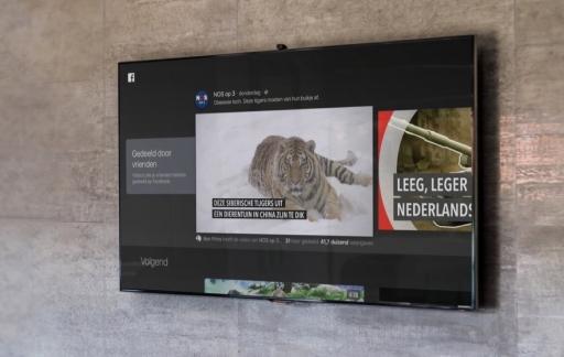 Facebook Video op Apple TV met tijger.