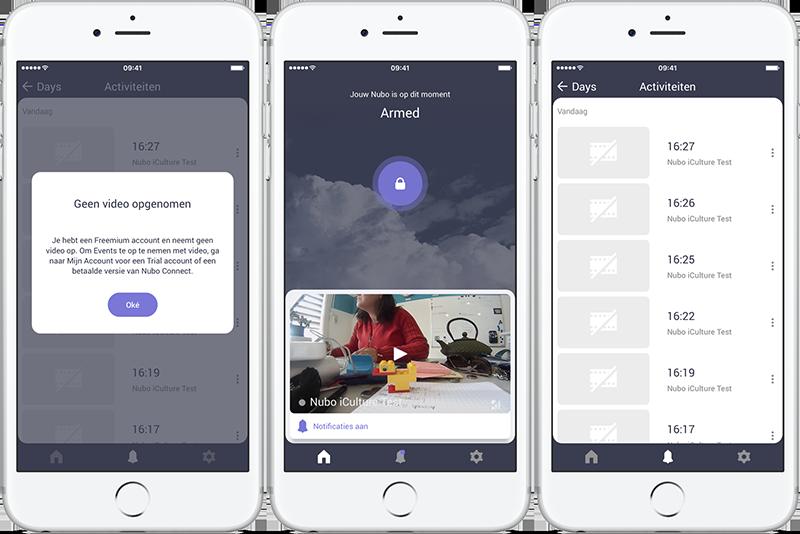 Nubo-app video bekijken is mislukt