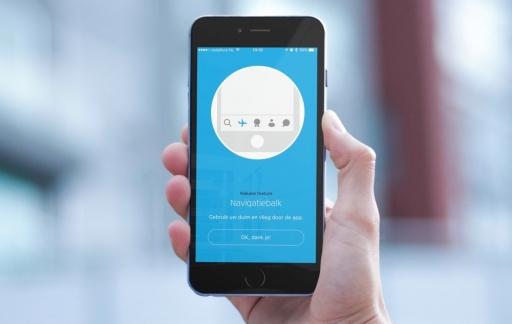 KLM-app op de iPhone.