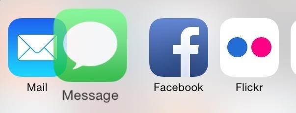Deelmenu aanpassen in iOS