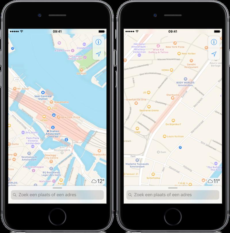 Ov-info Apple Kaarten Nederland.