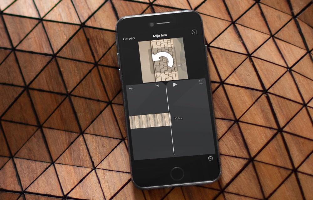 Video roteren op de iPhone met iMovie.