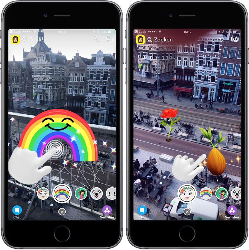 Snapchat wereldlenzen