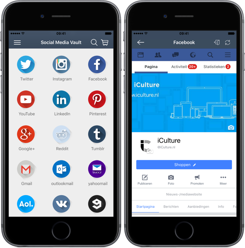Social Media Vault voor Facebook.