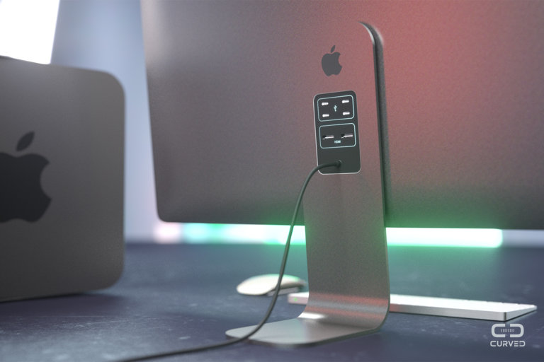 Achterkant van Cinema Display in concept.