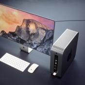 Overzicht van Mac Pro en scherm concept.