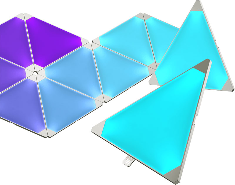 Nanoleaf Aurora led-panelen blauwpaars