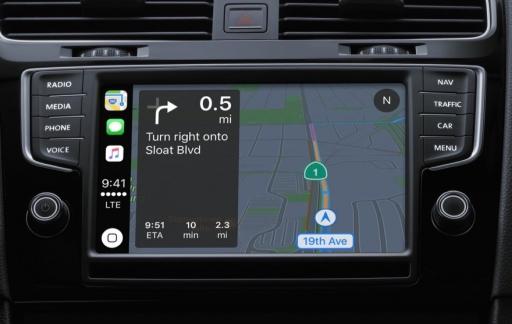CarPlay navigeren met Apple Kaarten.