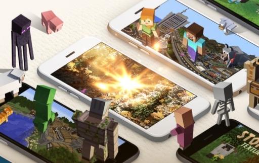 Minecraft Pocket Edition voor de iPhone.