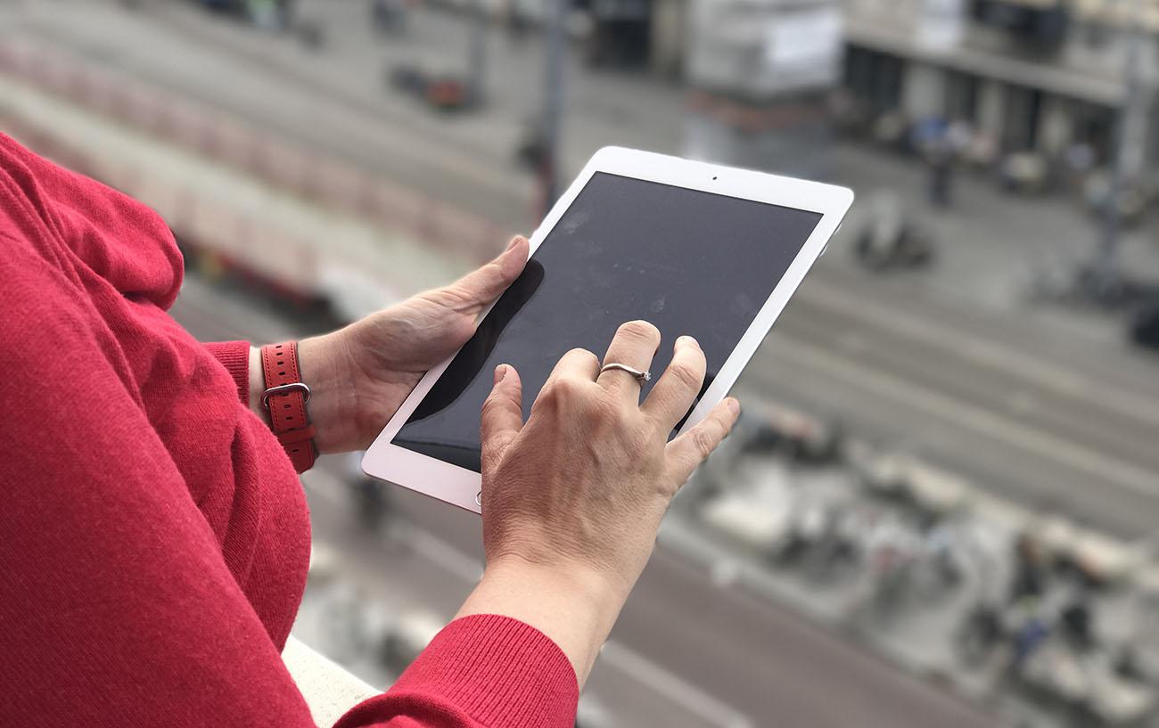 iPad 2017 review: scherm buitenshuis