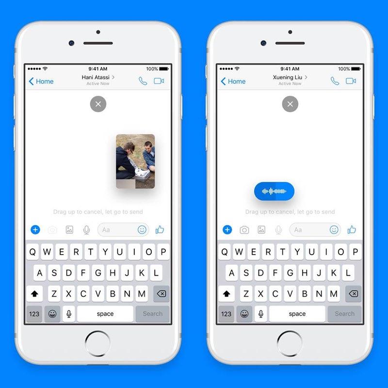 Facebook Messenger lijkt op iMessage