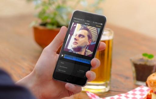Clips met muziek op de iPhone.