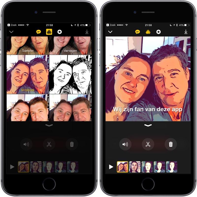 Clips: filters en effecten toevoegen