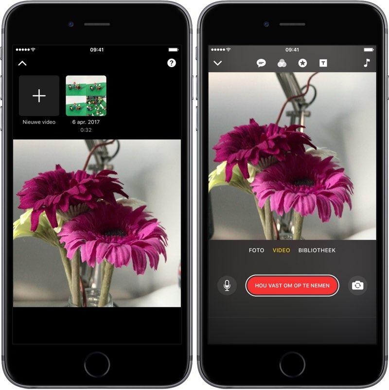 Clips-app: nieuw project