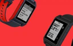 Pebble smartwatch zwart-rood