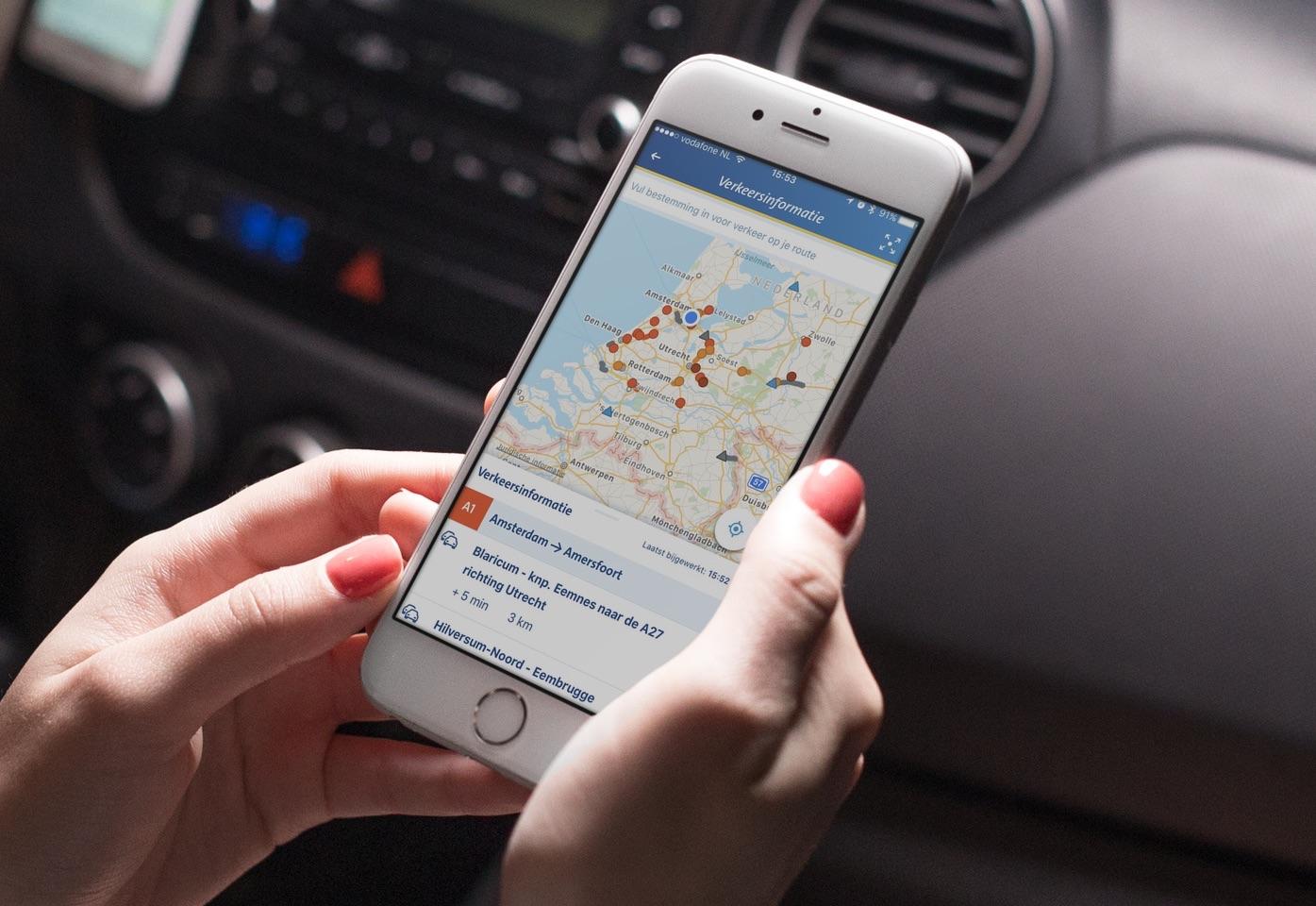 ANWB Onderweg op de iPhone.