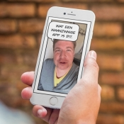 Giphy Says op de iPhone.
