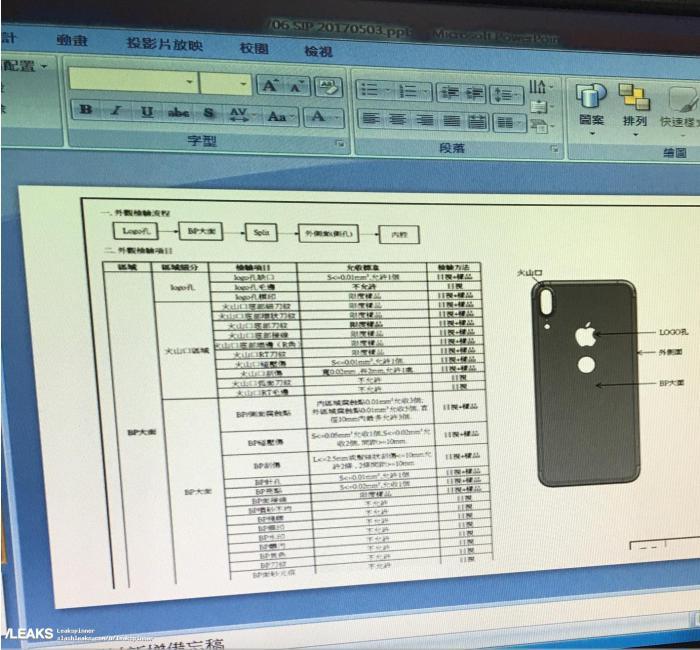 Schematische tekening iPhone 8 met Touch ID-sensor aan de achterkant.