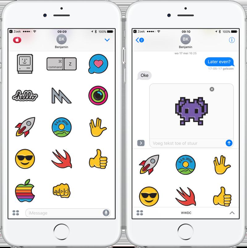 WWDC app update met stickers