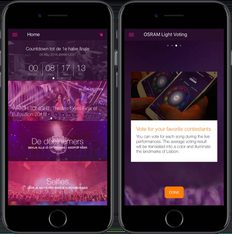 Eurovision Songfestival 2018 app.