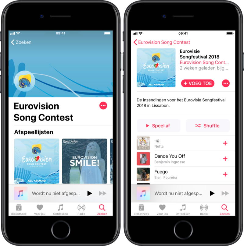 Eurovision Songfestival 2018 op Apple Music.