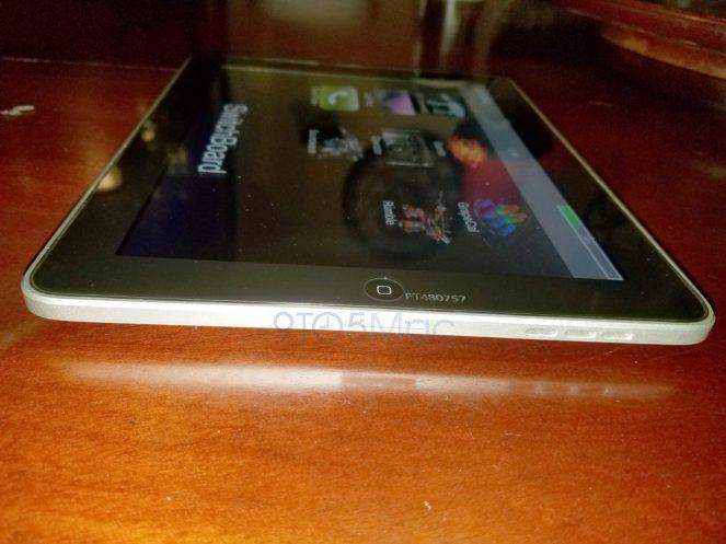 iPad prototype met SwitchBoard vanaf de zijkant.
