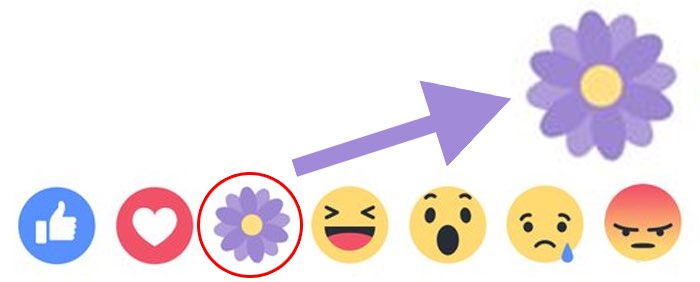 Facebook dankbaar-bloemetje