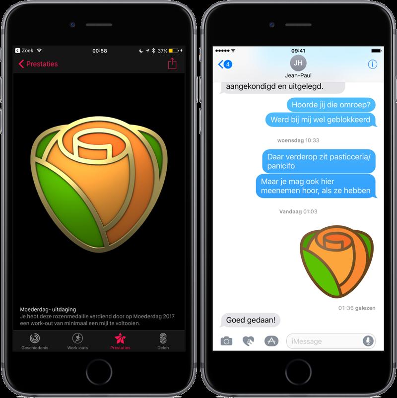 Moederdag uitdaging Apple Watch