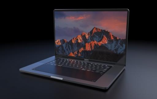 MacBook Pro concept met toetsenbord.