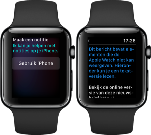 Apple Watch notities en mail.