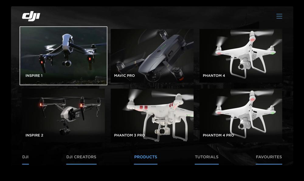 DJI voor Apple TV met drones.