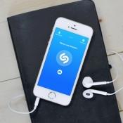 Shazam voor muziekherkenning met nieuw design.