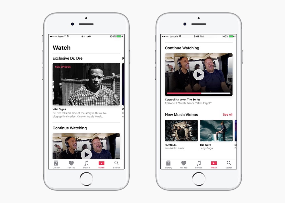 Apple Music concept met Watch-pagina.