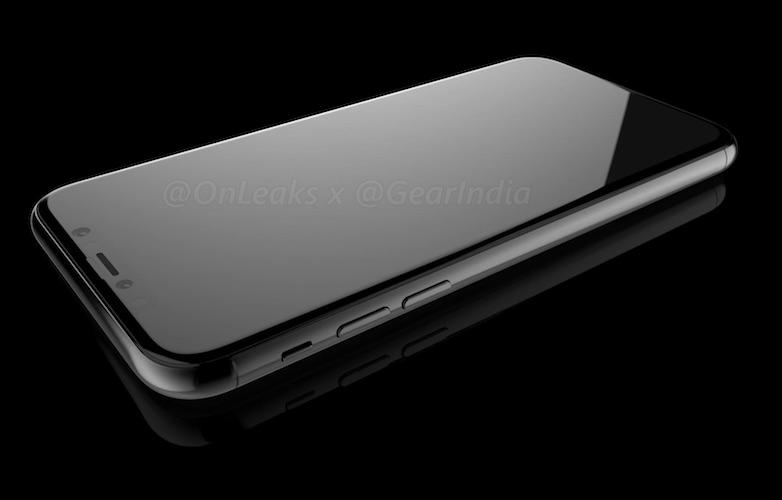iPhone 8 render van de voorkant.