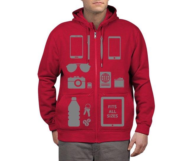 Scottevest hoodie met opbergzakken