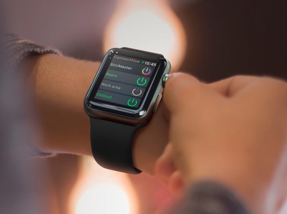 Verlichting regelen met iConnectHue voor Apple Watch.