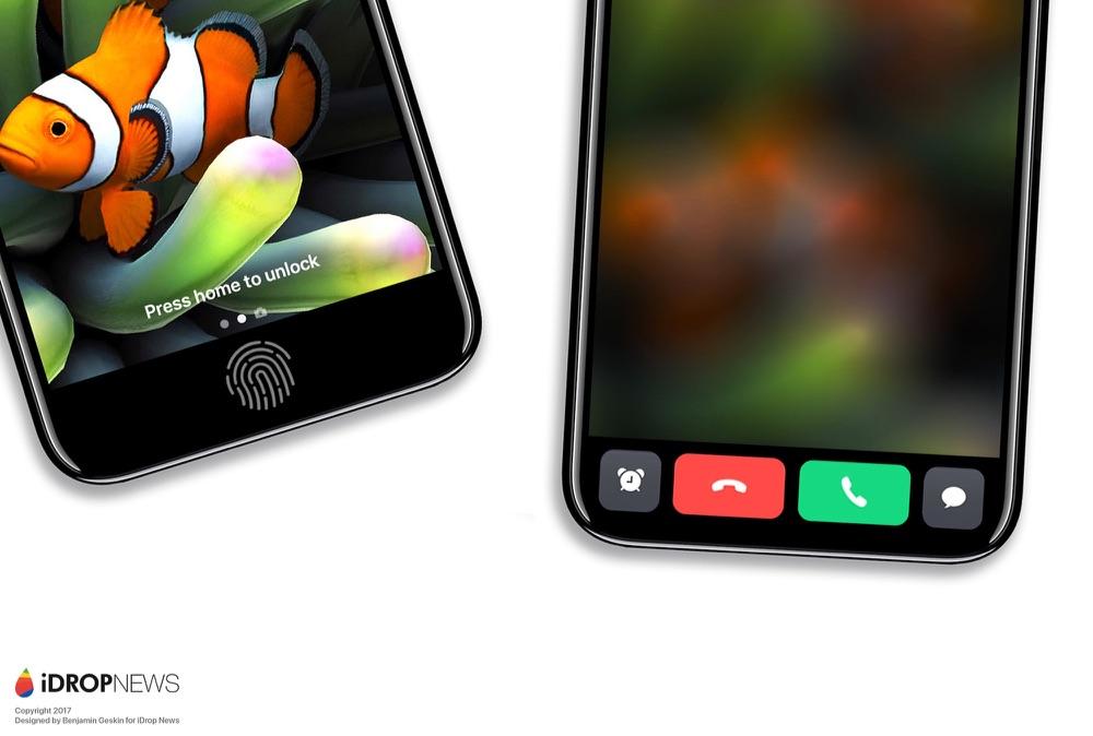 iPhone 8 functiepaneel met telefoonoproep.