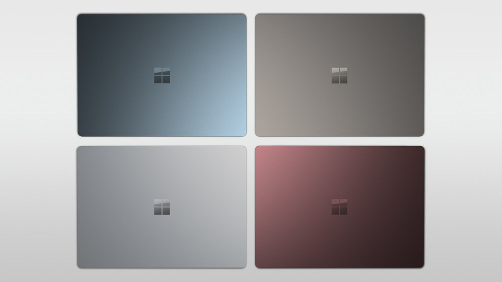 Microsoft Surface Laptop: kleuren