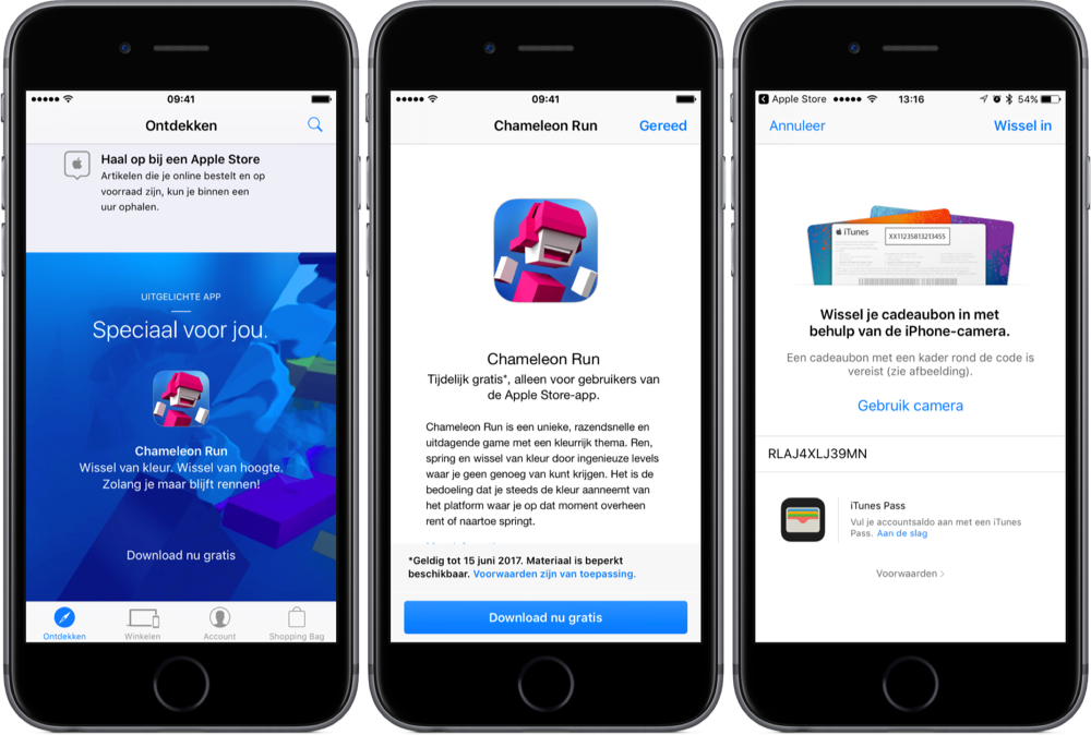 Chameleon Run gratis downloaden via Apple Store-app.