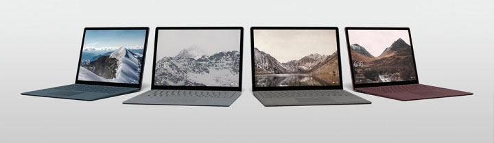 Microsoft Surface Laptop kleuren