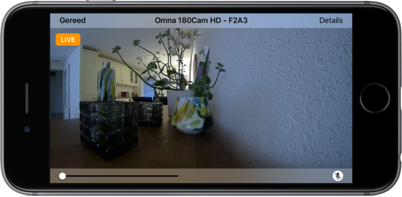 D-Link Omna camera in de Woning-app.