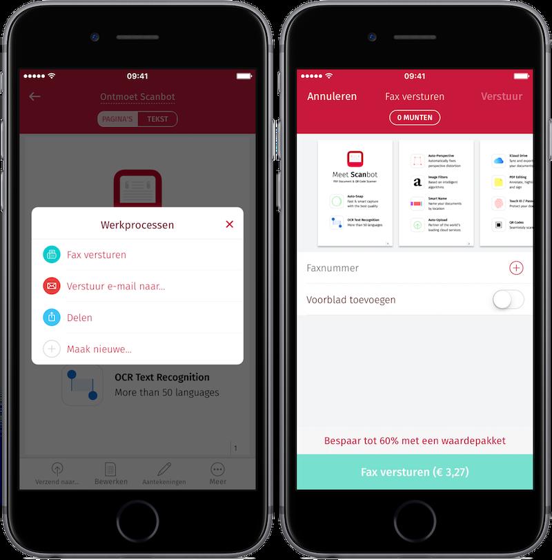 Scanbot: faxberichten versturen vanaf iPhone en iPad