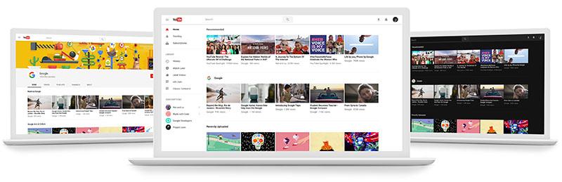 YouTube nieuw design