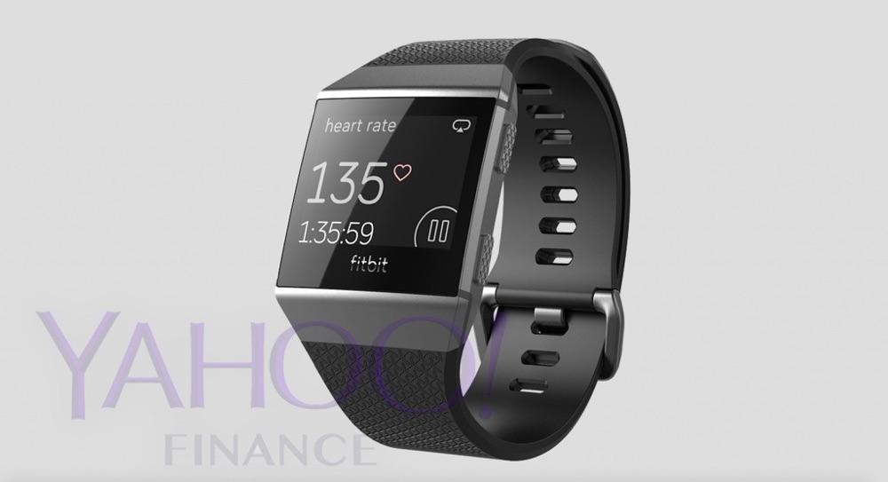 Fitbit smartwatch in grijs.